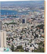 View Of Haifa Wood Print