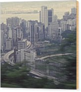 View Of Hong Kong Wood Print
