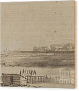 View Of Houtewael Near The Sint Anthoniespoort [recto] Wood Print