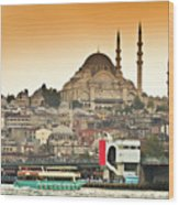 View Of Istanbul Wood Print by (C) Thanachai Wachiraworakam