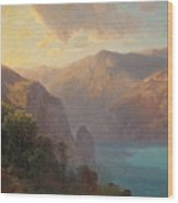 View Of Lac De Lucerne Seen From The Seelisberg, Switzerland Wood Print