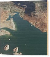 View Of Lake Powell Wood Print