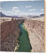 View Of Marble Canyon From The Navajo Bridge Wood Print