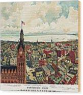 View Of Milwaukee 1898 Wood Print