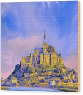 View Of Mont Saint Michel Wood Print