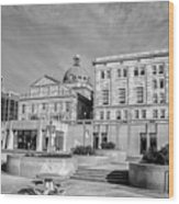 View Of Montgomery County Courthouse From The Southside In Black Wood Print