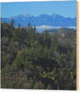 View Of Mount Baldy From The San Bernardino Mountains Wood Print