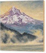 View Of Mt Hood Wood Print