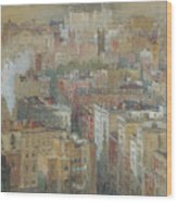 View Of New York City Wood Print