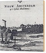 View Of New York City, Then  New Wood Print