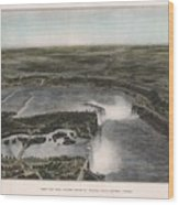 View Of Niagra Falls 1907 Wood Print
