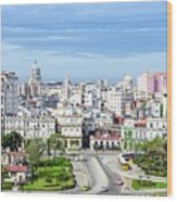 View Of Old Town Havana Wood Print