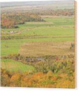 View Of Ottawa Valley In Autumn 13 Wood Print