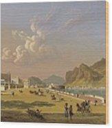 View Of Palermo 1845, Robert Salmon Wood Print