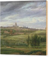 View Of Paris From Butte Aux Cailles Wood Print