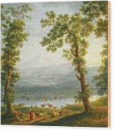View Of Piedimonte Wood Print