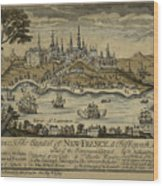 View Of Quebec City 1759 Wood Print