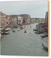 View Of Rialto Bridge Wood Print
