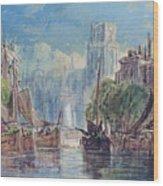 View Of Rotterdam Wood Print
