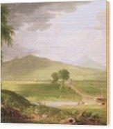 View Of Rutland - Vermont Wood Print