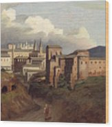 View Of Saint John Lateran Rome Wood Print by Joseph Desire Court