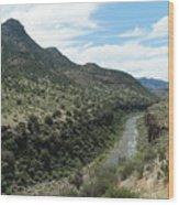 View Of Salt River Canyon Wood Print
