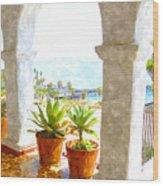 View Of San Clemente Pier Wood Print