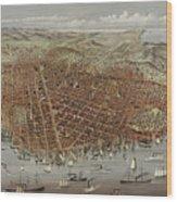 View Of San Francisco Wood Print