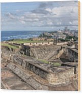 View Of San Juan From The Top Of Fort San Cristoba Wood Print