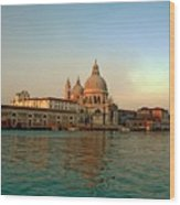 View Of Santa Maria Della Salute On Grand Canal In Venice Wood Print
