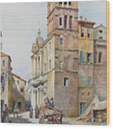 View Of Santa Maria In Monticelli, Rome  Wood Print