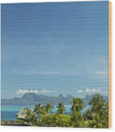 View Of Tahiti Wood Print
