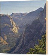 View Of Tenaya Canyon Wood Print by Coyright Roy Prasad