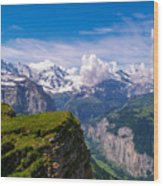 View Of The Swiss Alps Wood Print