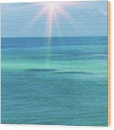 View Of The Atlantic Ocean Wood Print