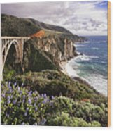 View Of The Bixby Creek Bridge Big Sur California Wood Print