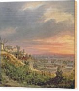 View Of The Butte Montmartre Wood Print
