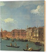 View Of The Canal Of Santa Chiara Wood Print