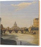 View Of The Castel Sant'angelo Wood Print