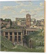 View Of The Cloaca Maxima - Rome Wood Print