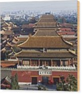 View Of The Forbidden City At Dusk From Wood Print by Axiom Photographic