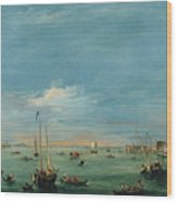 View Of The Giudecca Canal And The Zatter Wood Print