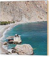 View Of The Glikanera Beach, Hora Wood Print