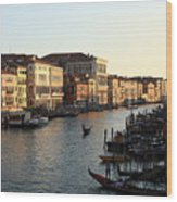 View Of The Grand Canal In Venice From The Rialto Bridge Wood Print