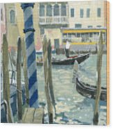 View Of The Grand Canal In Venice Wood Print