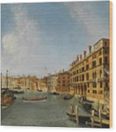 View Of The Grand Canal Venice With The Fondaco Dei Tedeschi Wood Print