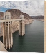 View Of The Hoover Dam Lake With Low Water Reserves Wood Print
