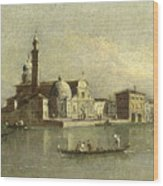 View Of The Isola Di San Michele In Venice Wood Print