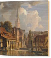 View Of The Little Alster Wood Print