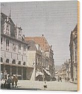 View Of The Market Horn  With The Statue Of Jan Pietersz Coen And The Waag Anonymous  1907   1930 Wood Print